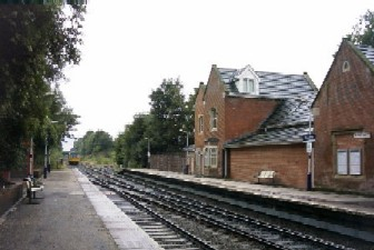 Old building at Woodley station