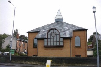 Front of Woodley Methodist Church
